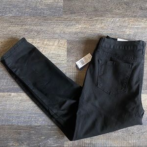 Crown & Ivy Black Cigarette Skinny Leg Ankle Jeans